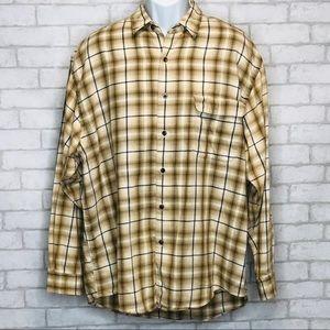Eddie Bauer 100% Cotton Long Sleeve Shirt (L)